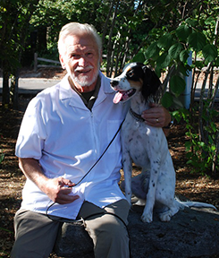 Dr. Bill Hughes with his dog Doc